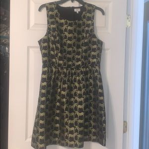 Crown & Ivy Black and Gold Zebra Dress